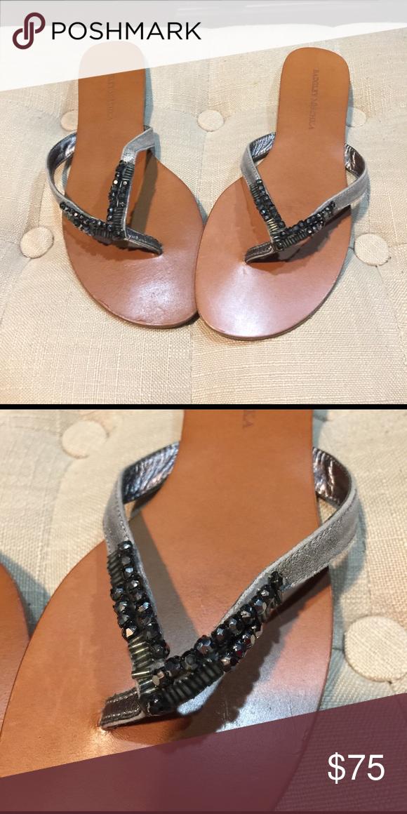 Badgley mischka embellished sandals Badgley mischka embellished sandals. Worn 1 time Badgley Mischka Shoes Sandals