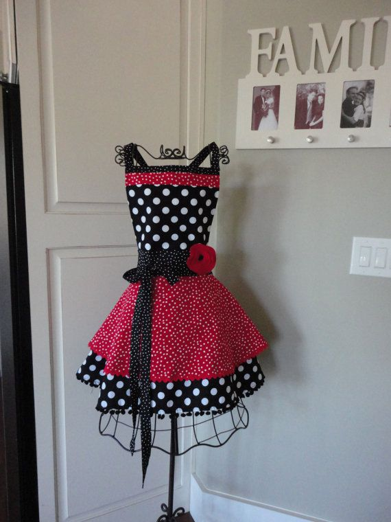 Valentine Red Dot  Annabelle Style   Retro Modern by 4RetroSisters, $38.50