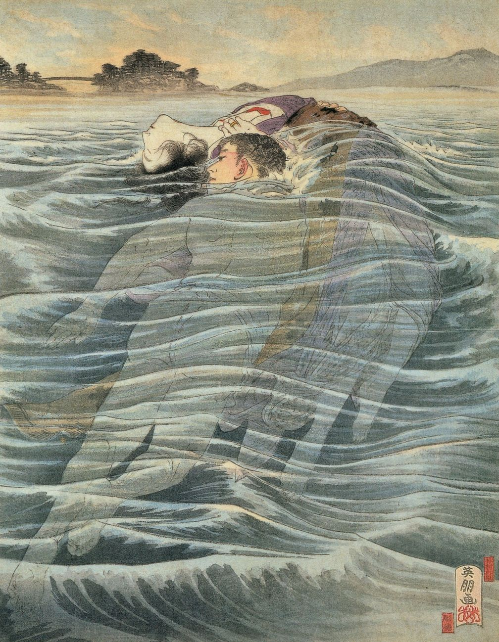 Hirezaki Eihou (鰭崎英朋 1881-1968) - 続風流線 1905