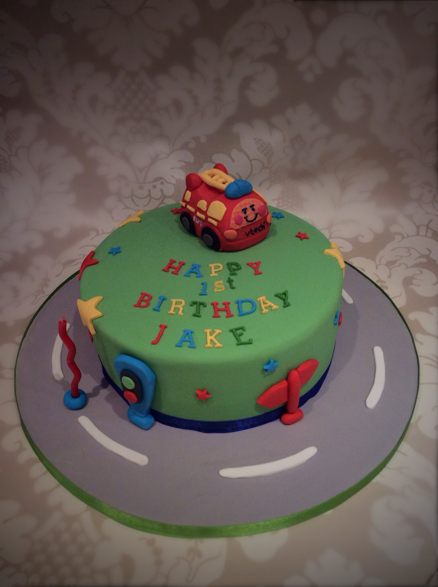 Rachels Enchanting Creations - Toot  toot cake for boys first birthday