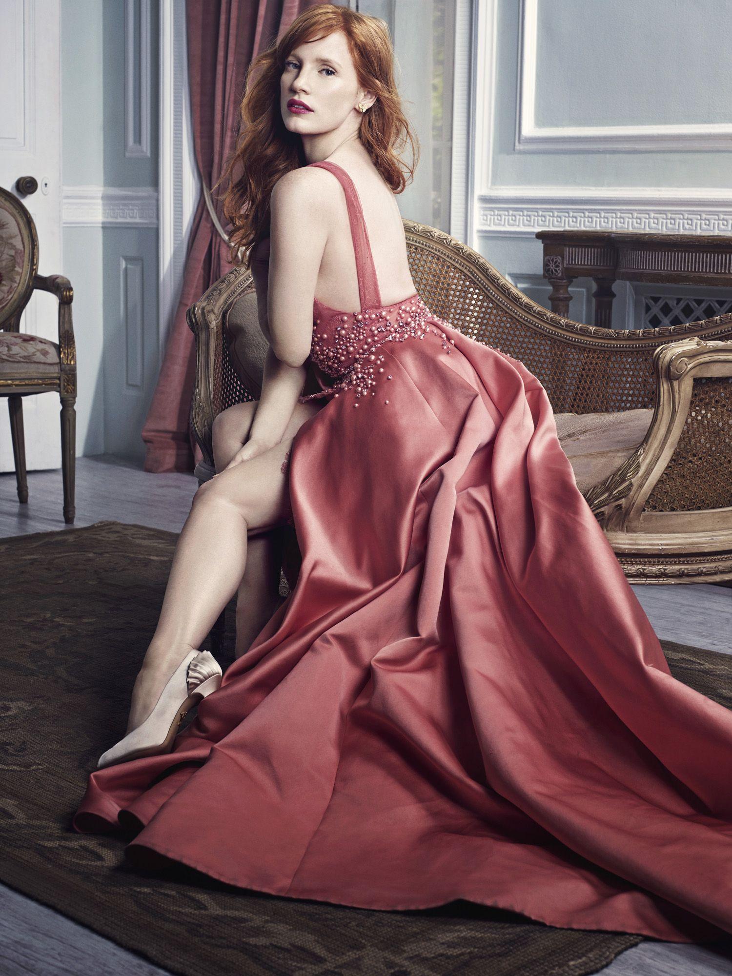 Jessica Chastain, photographed by David Slijper for Harper\'s BAZAAR ...