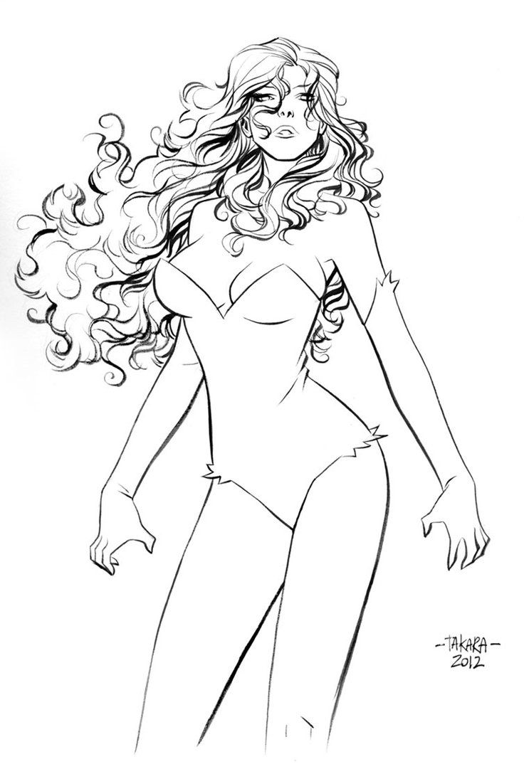 Poison Ivy Coloring Pages Adult Mission Poison Ivy Ink By