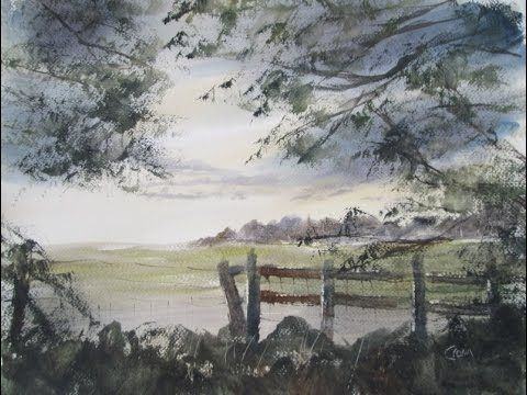 Watercolour painting from photograph I took in Shuttington - YouTube
