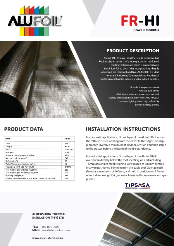 Alucushion Thermal Insulation Pty Ltd Brochures In 2020 Roof Insulation Foil Roof Insulation Insulation
