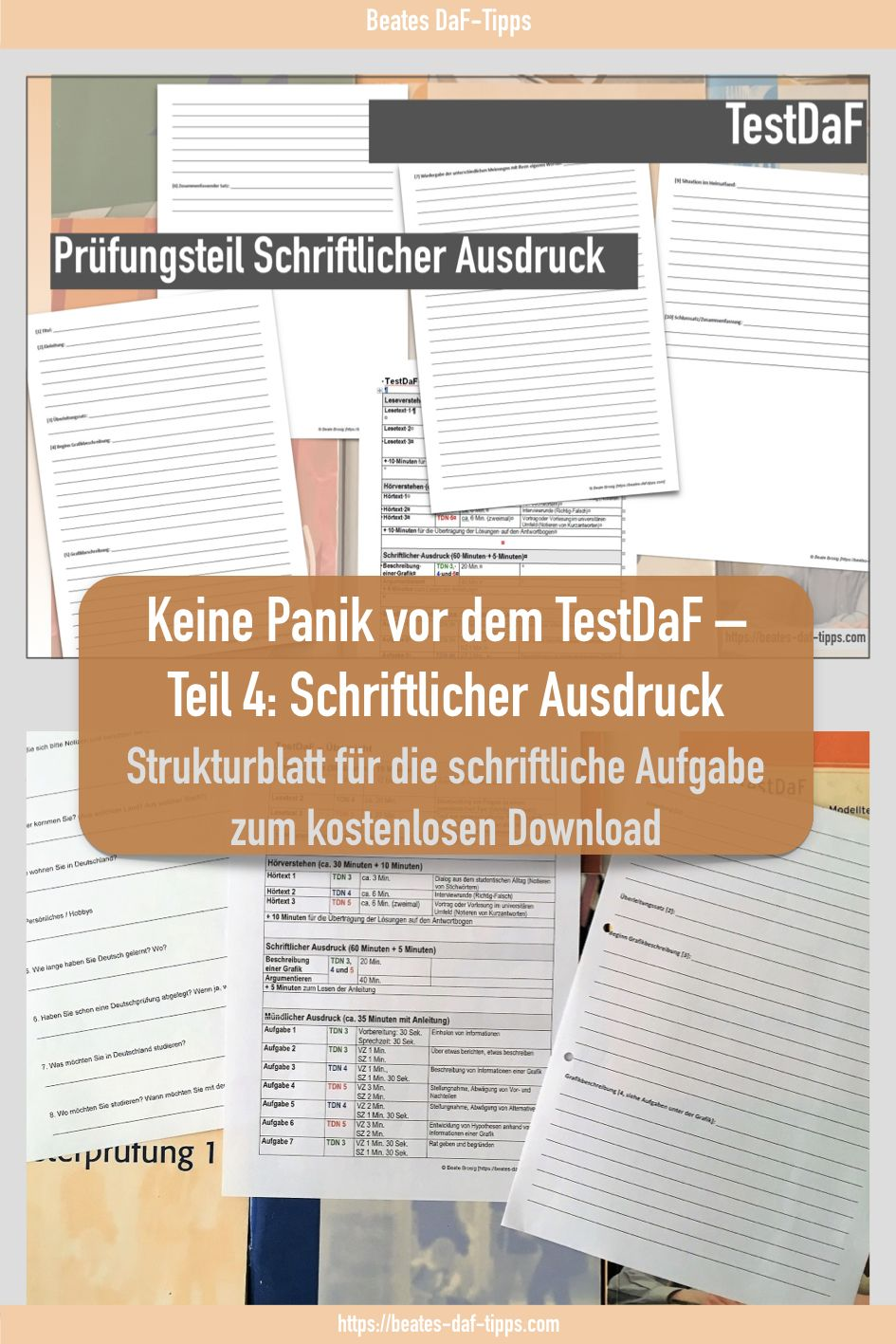 Testdaf Schriftlicher Ausdruck Strukturblatt Zum Kostenlosen Download Ausdrucke Deutsch Lernen Unterrichten