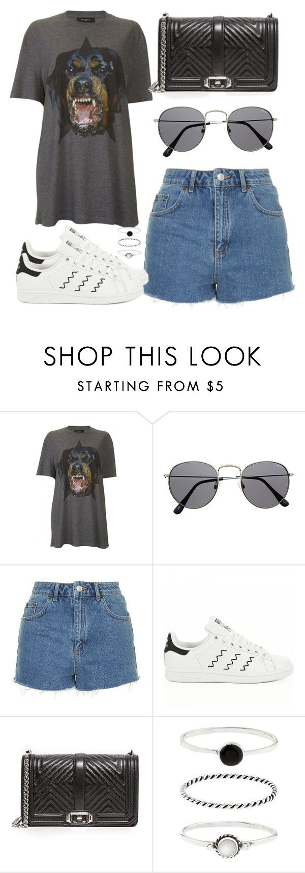"""""""Sem título #2882"""" by beatrizvilar on Polyvore featuring moda, Givenchy, Topshop, adidas, Rebecca Minkoff e Accessorize"""