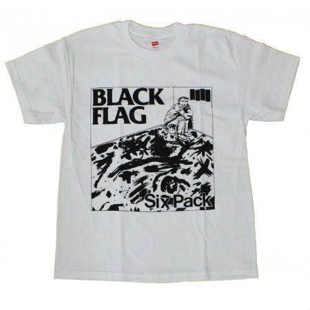 BLACK FLAG SIX PACK T-SHIRT WHITE | Band Merch | Pinterest | Band ...