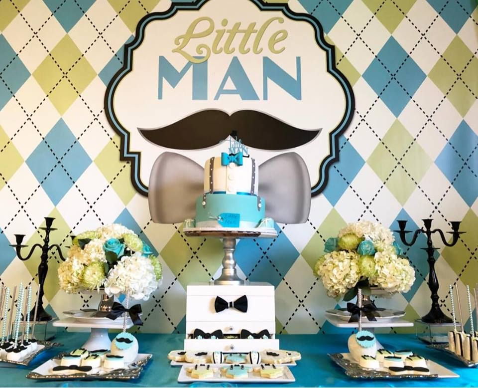 and Gender Reveal Birthday Party Mustache Little Man Confetti for Baby Shower