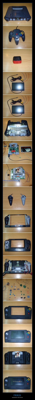 Haciendo un Nintendo 64 Portable a partir de... un Nintendo 64 #Epic #Frikis