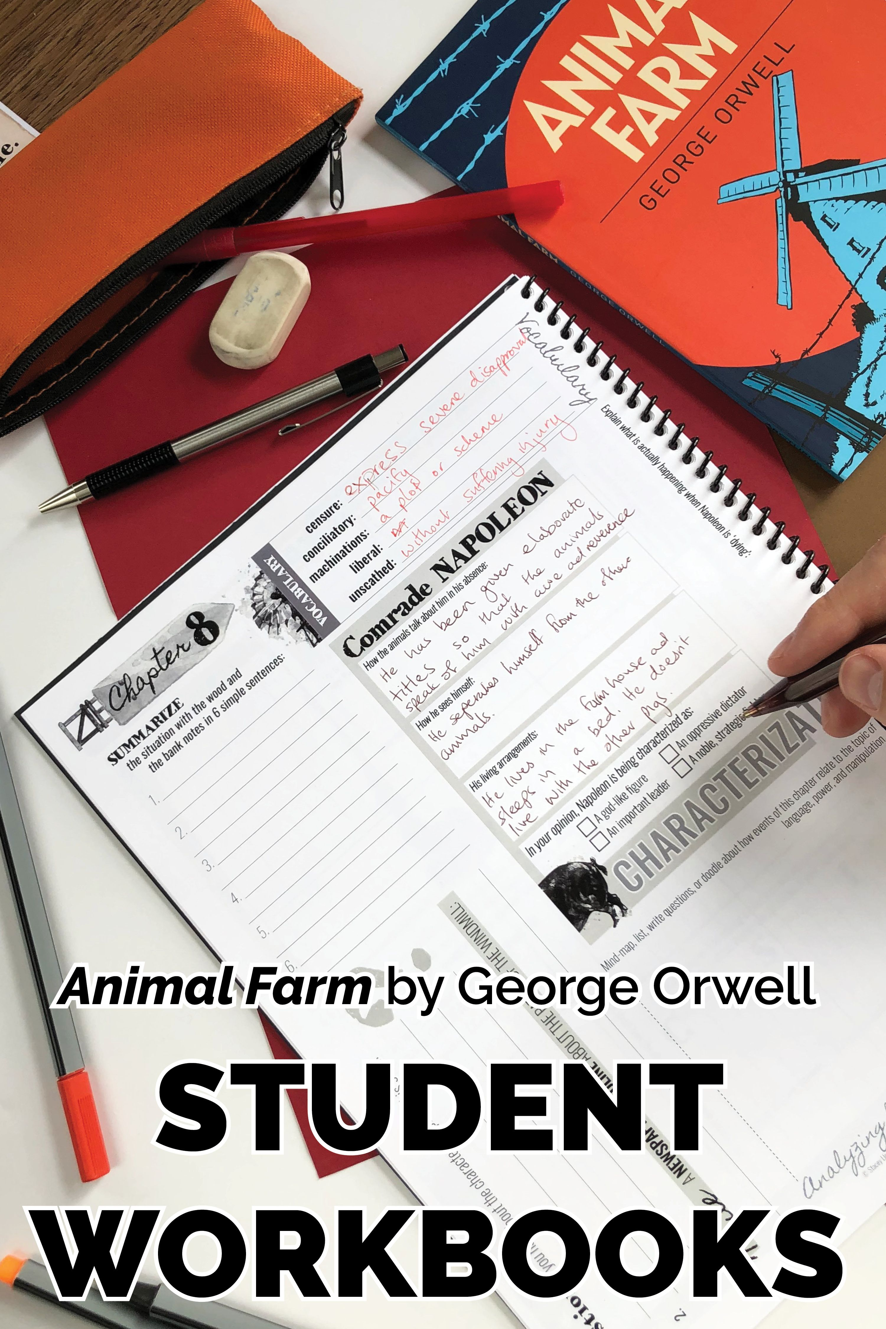 Animal Farm Student Workbooks In
