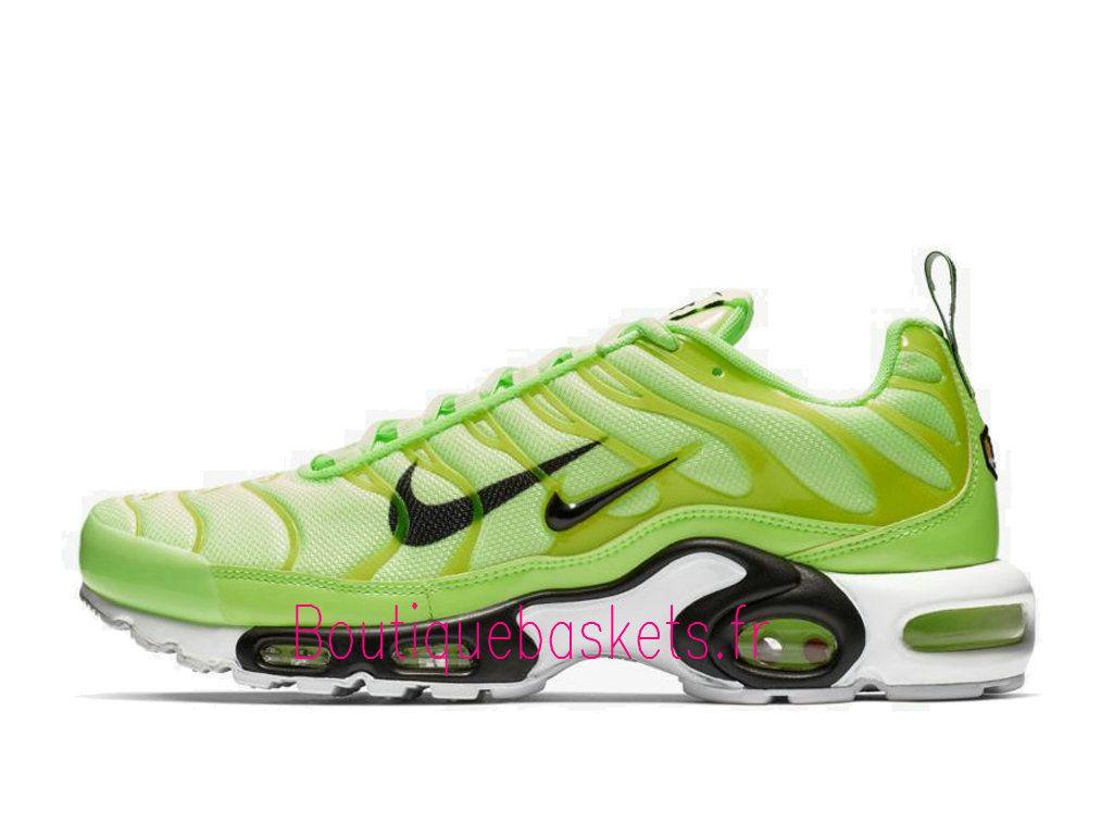 Boutique Nike Air Max Plus Premium Chaussures Officiel Basket 2019 Pas Cher Pour Homme Vert Noir 815994 300 1812291651 Boutique de Nike Baskets Site