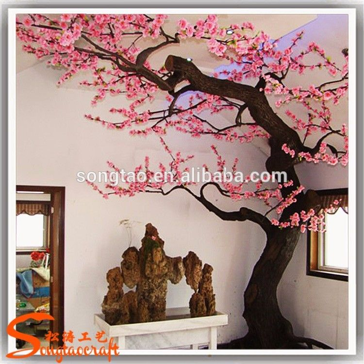 350cm Height Pink Artificial Cherry Blossom Tree With Green Leaves For Indoor Outdoor Home And Garden Decoration View Artificial Cherry Tree Songtao Product D Artificial Cherry Blossom Tree Cherry Blossom Tree