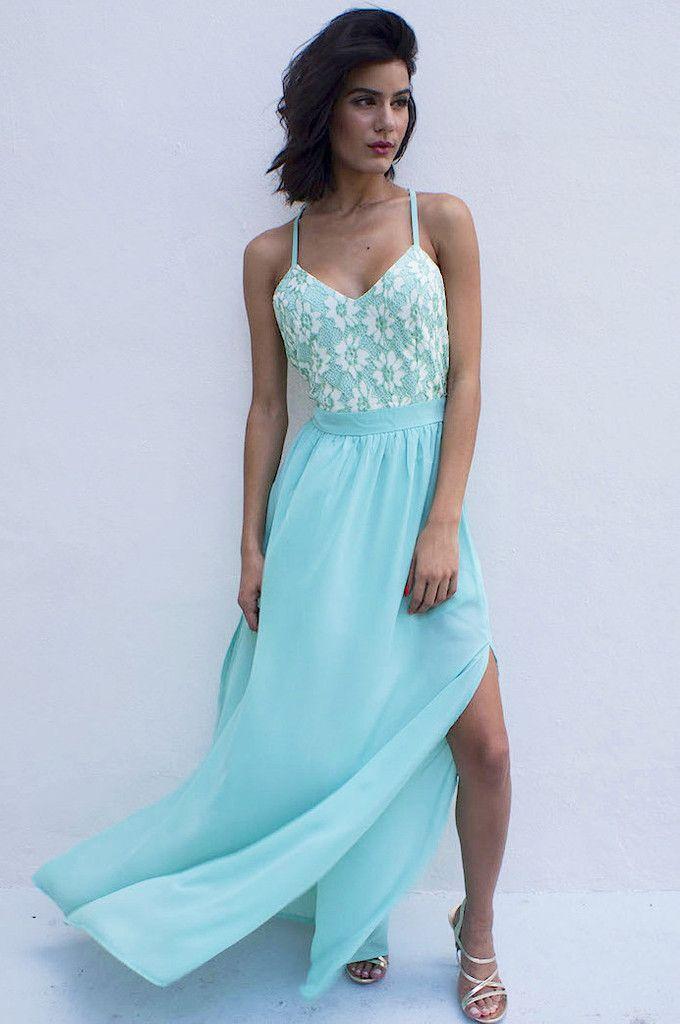 Love Ballad Maxi Dress - Mint