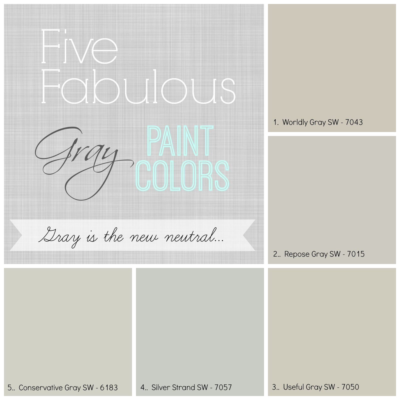Five Favorite Gray Paint Colors Worldly Gray is one of the