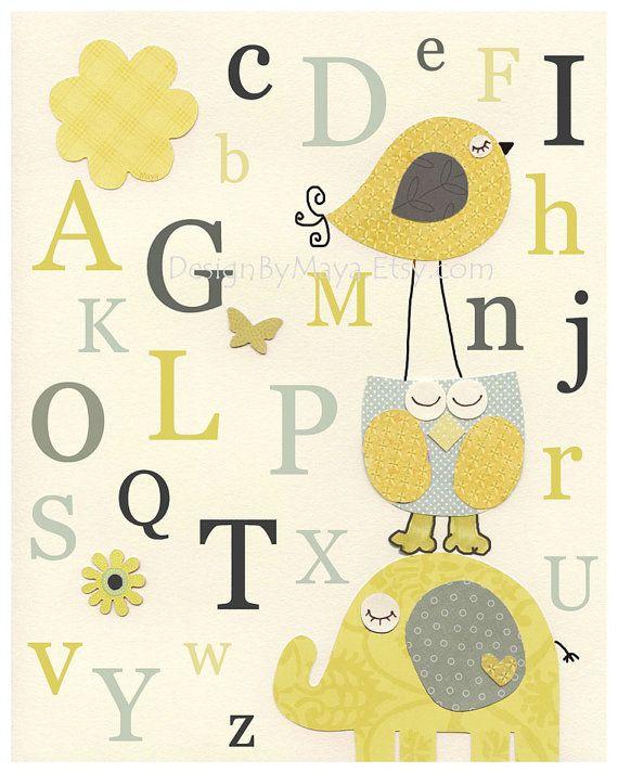 Nursery Letters, Nursery Alphabet ABC, Wall Letters for Kids Room ...
