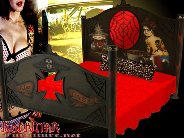 Awesome Skull Bedroom Furniture   Rockabilly Beds, Rockabilly Bedrooms, Rockabilly  Furniture