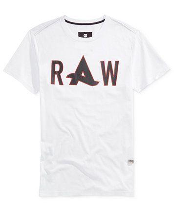 be5c213e03bf G-Star RAW Men's Afrojack Graphic-Print Logo T-Shirt | macys.com ...