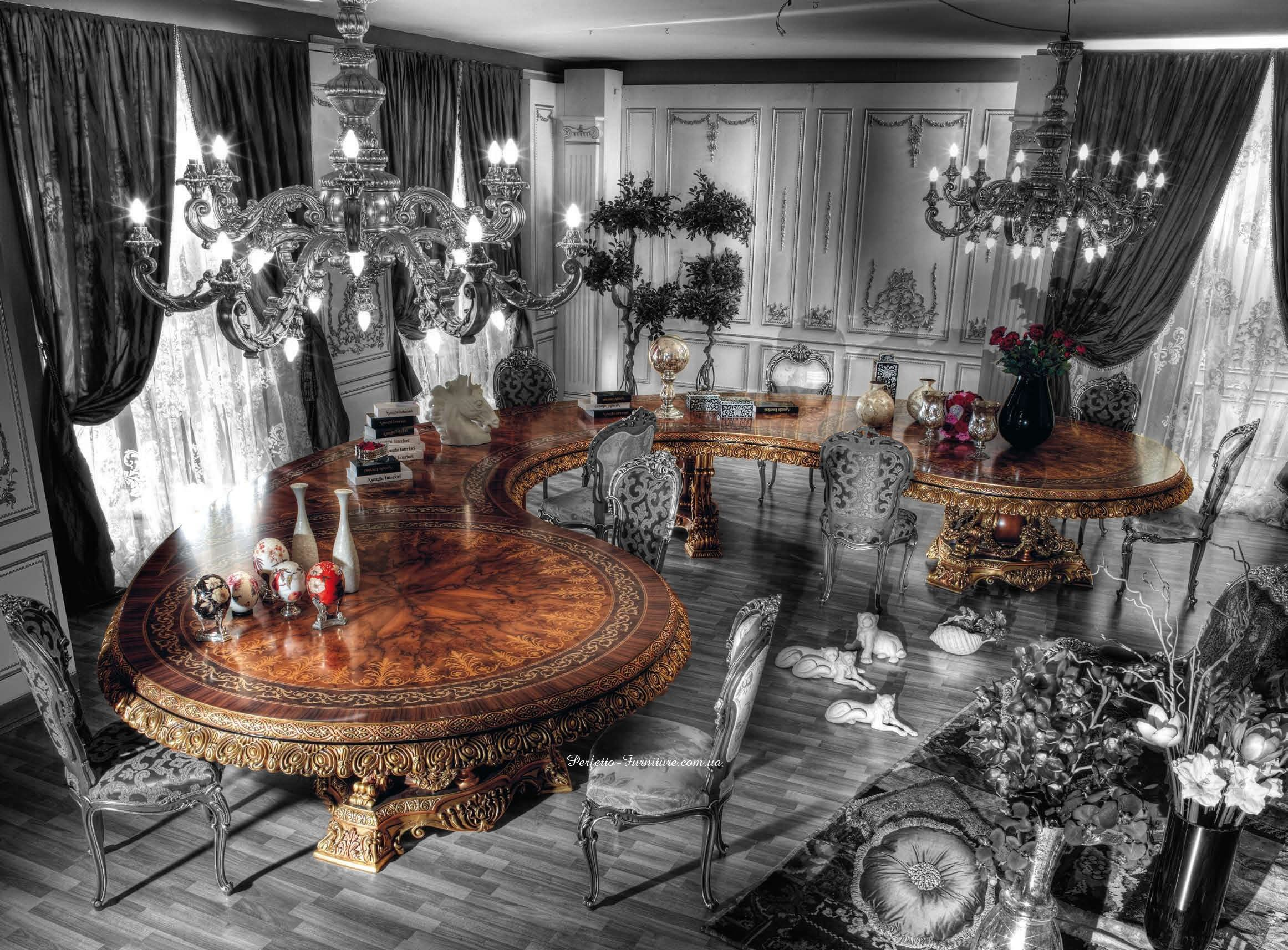 Italian Curved Dining Table In Baroque Styletop And Best Italian Stunning Italian Dining Room Decor Review