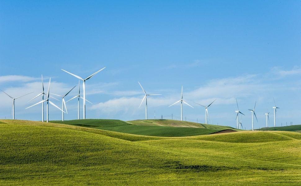 Wind Turbines Hd Wallpaper Renewable Energy Resources Wind Turbine Offshore Wind Turbines