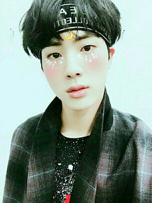 Jin Bts Seokjin Moon Star Shine Edit Handsome Boy Korean Asian