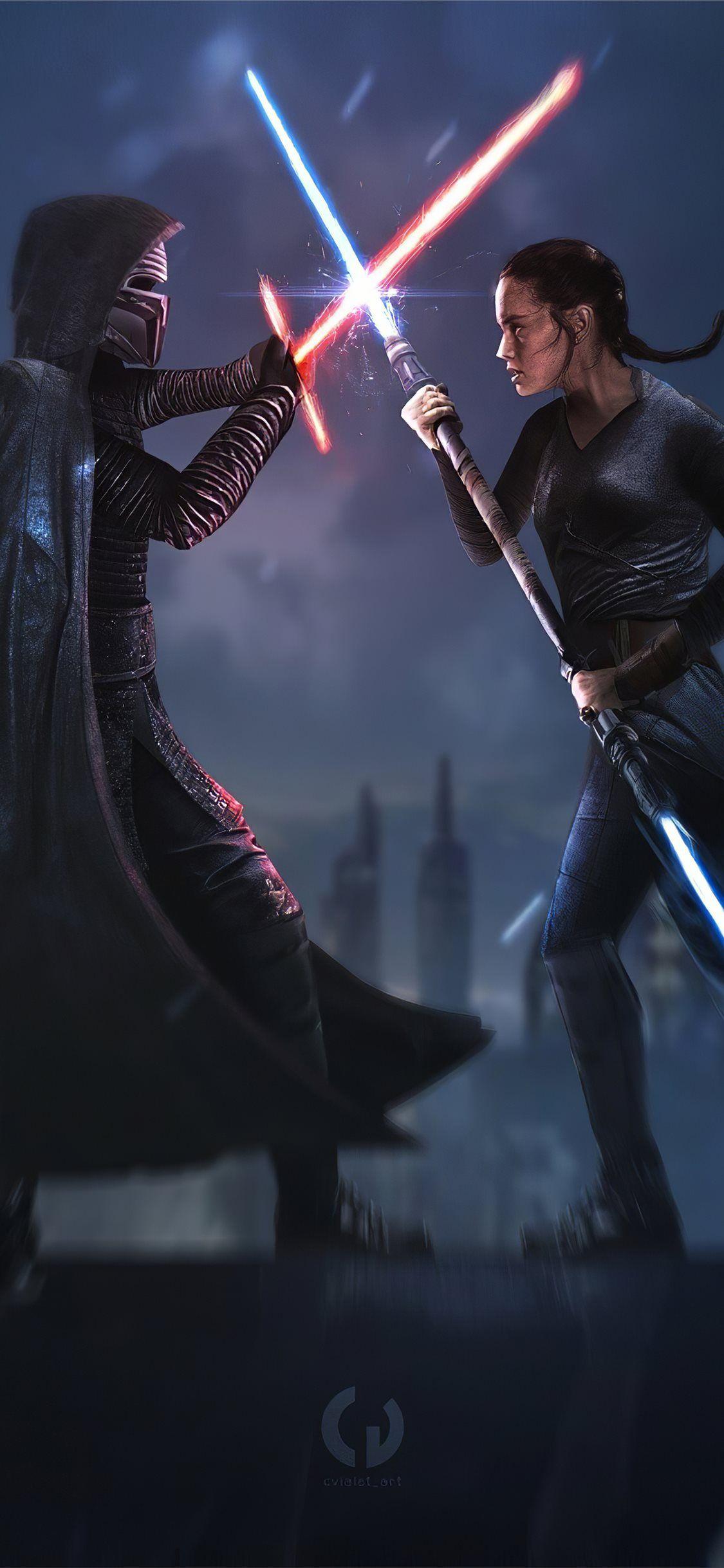 Star Wars Ix Duel Of Fates 4k Starwars Rey Movies Artist Artwork Digitalart 4k Iphone11wallpaper Star Wars Star Wars Art Movie Wallpapers