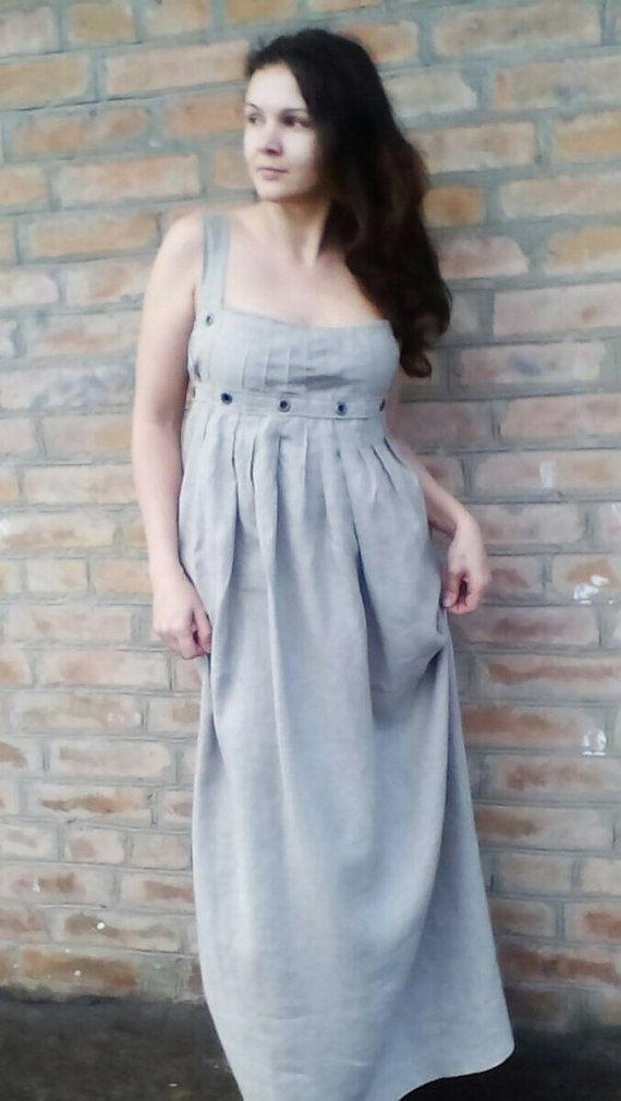 Estate abito abiti/premaman estate maxi abito di Ukrainevintage