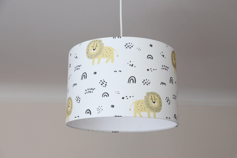 Lampenschirm Kinderzimmer Mit Löwen Und Regenbogen