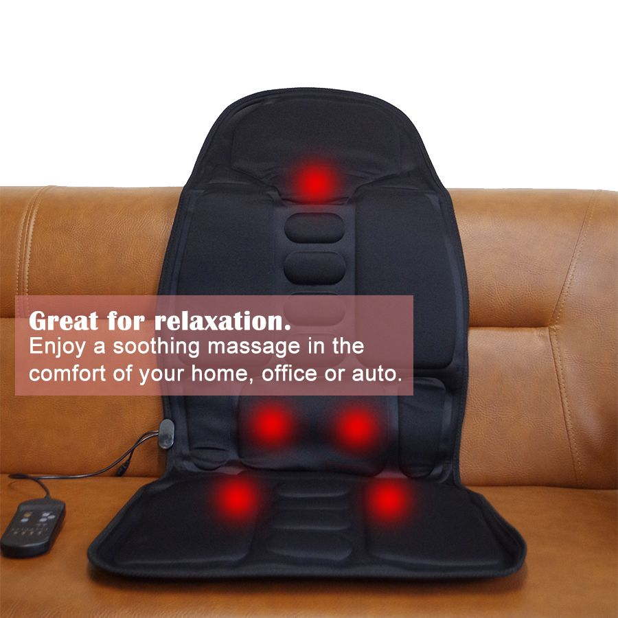 Car Home Use Cervical Massager Vibration Neck Back Massage Chair Cushions Heating Mattress Body Relax
