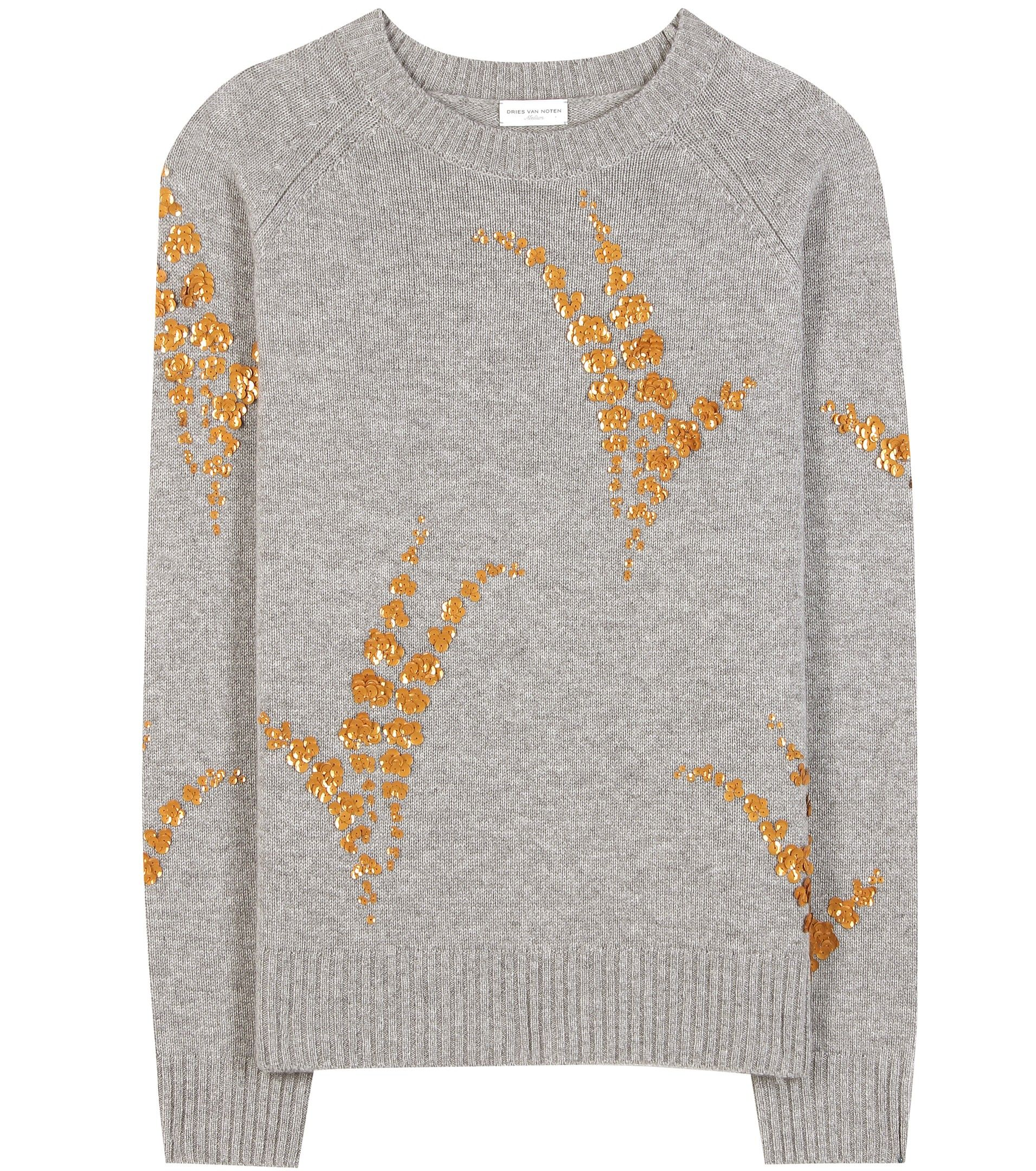 mytheresa.com - Embellished cashmere sweater - Luxury Fashion for ...
