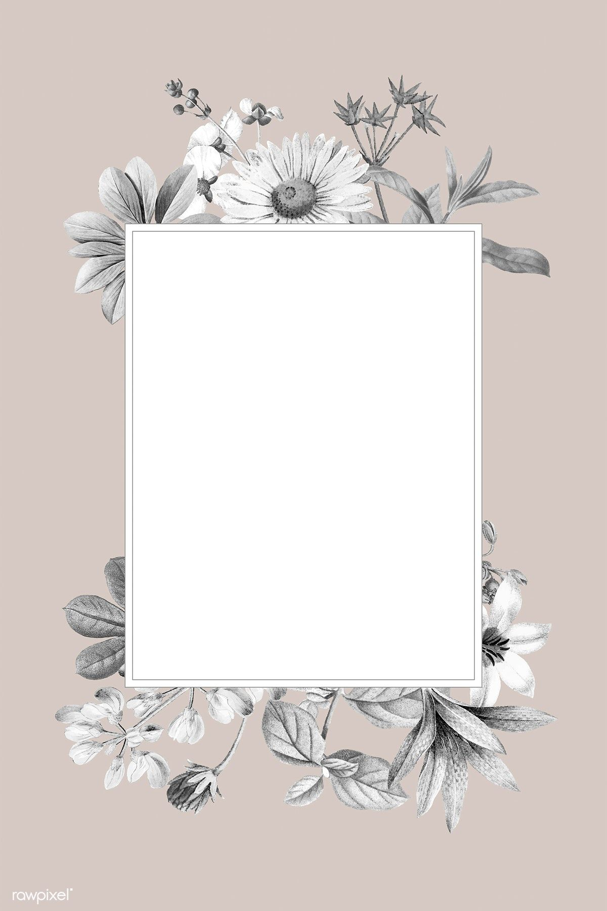 Download premium vector of Blank floral frame design