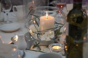Wedding table decorations candlesfish bowlsmirrorsroses wedding table decorations candlesfish bowlsmirrorsrosescreamgoldjob lot ebay junglespirit Images