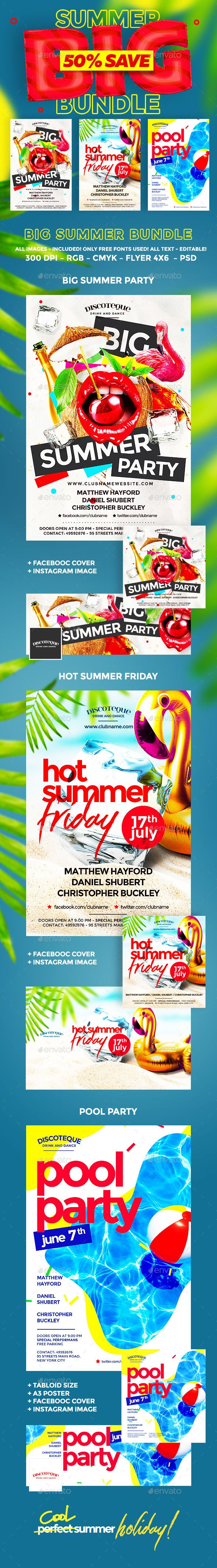 Summer  Flyer Template Party Flyer And Summer