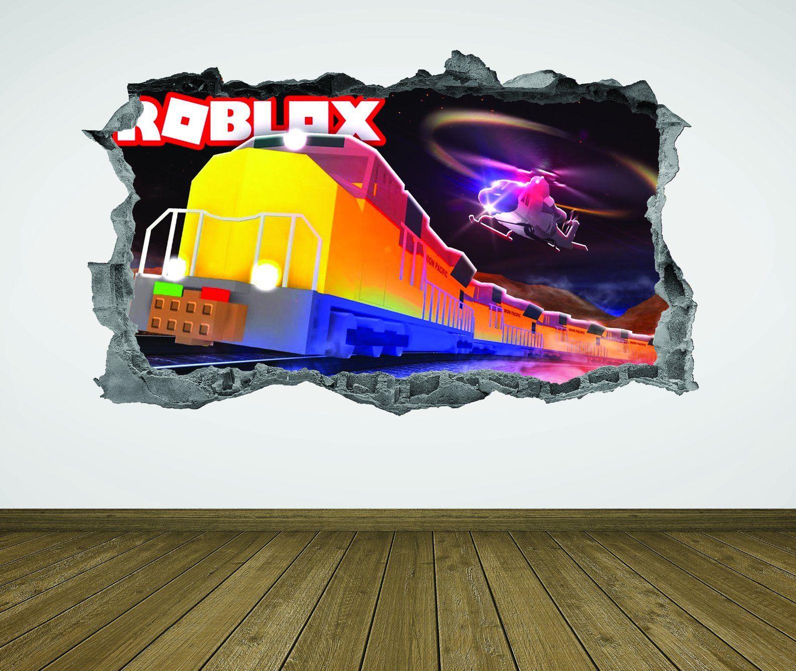 Roblox,Wall Decal,Roblox Wall Art,Roblox Decor,3D,Kids,Roblox Stickers,Decal,Murals