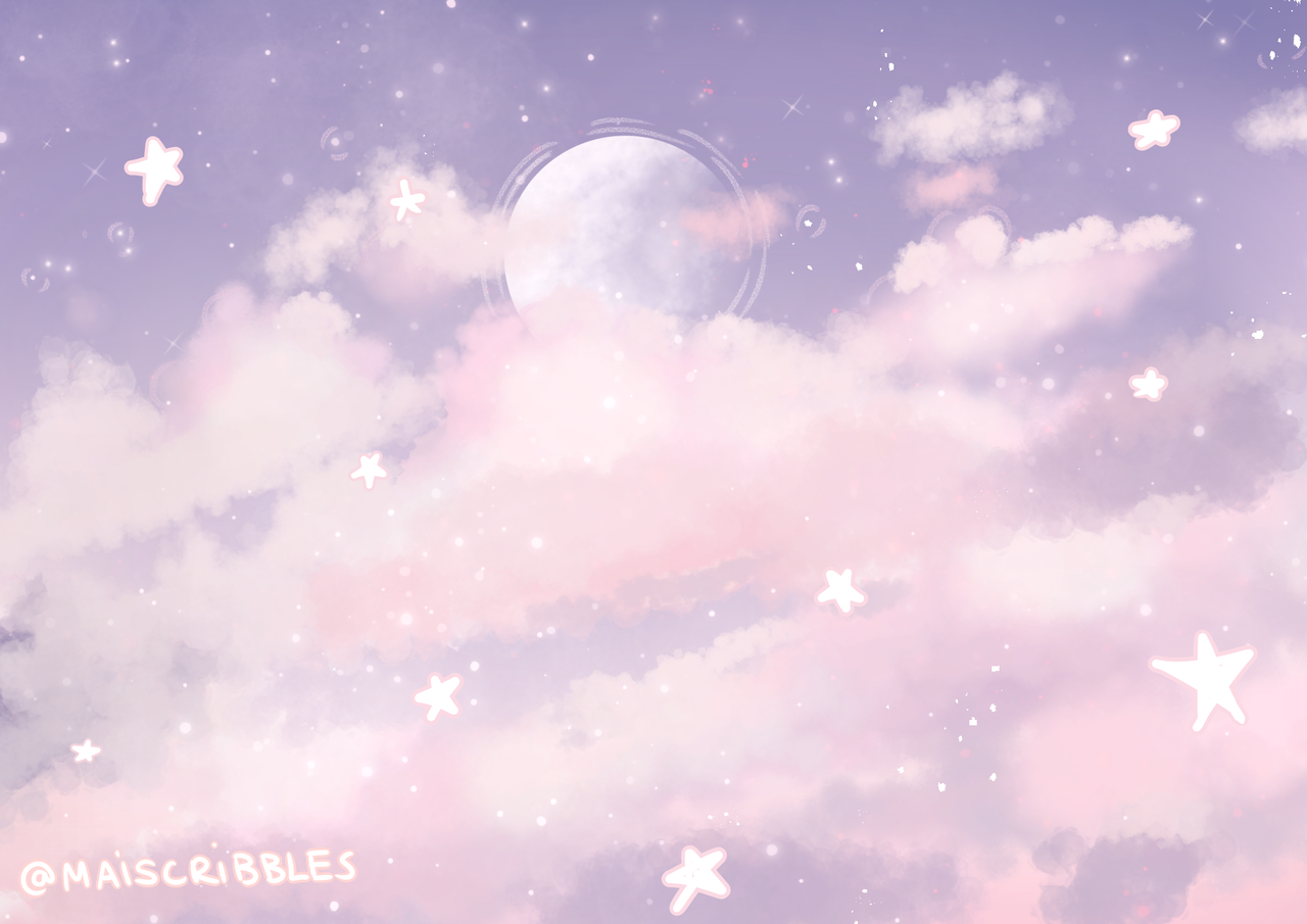 Maiscribbles Been A While Since I Did Some Pastel Aesthetic Anime Backgrounds Wallpapers Desktop Wallpaper Art Aesthetic Desktop Wallpaper