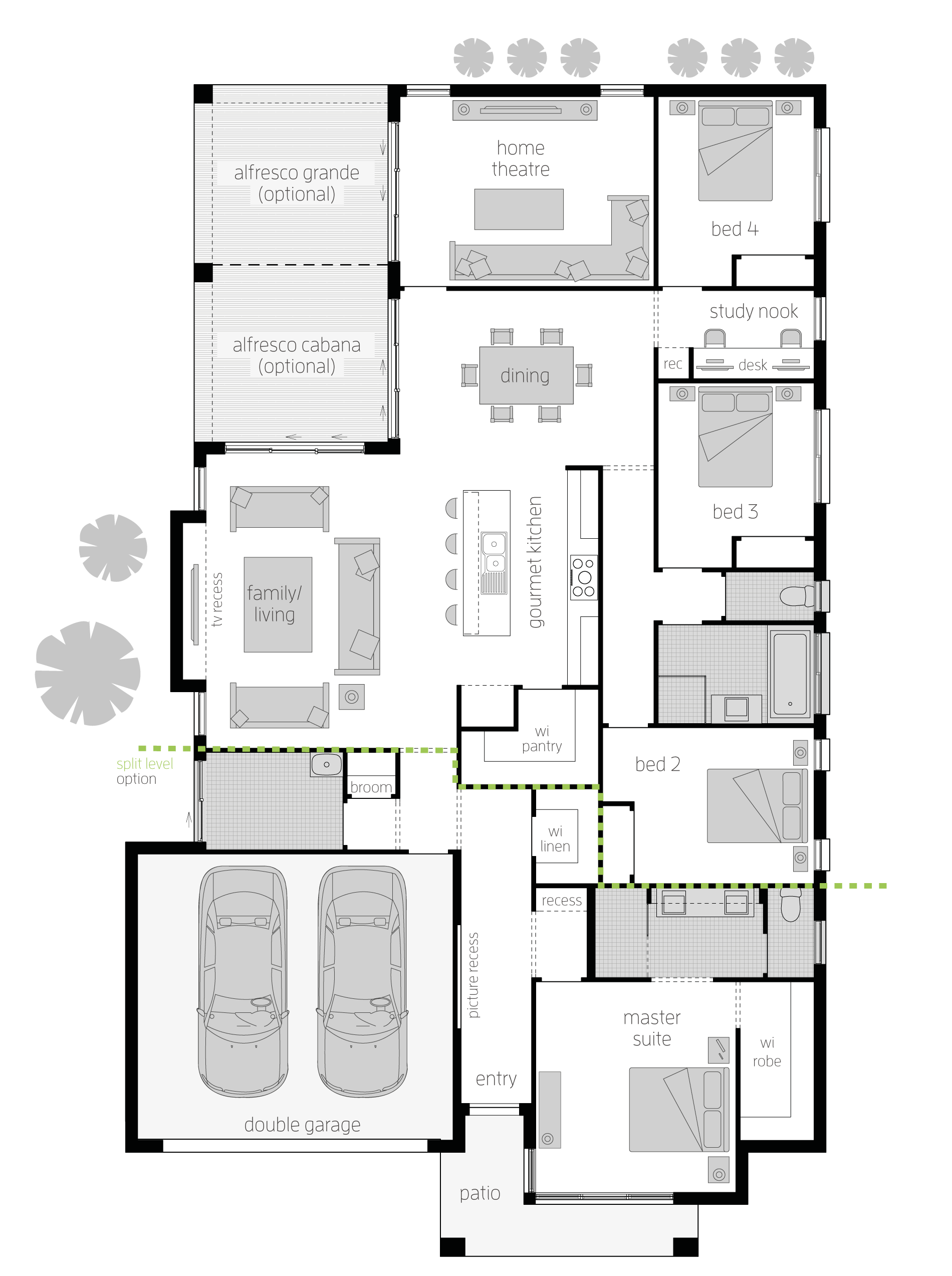 Portsea one zero floor plan injecting the right balance of style