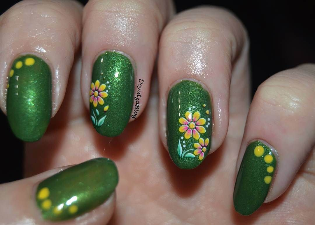 Green Nail art: Inspire with these 70 designs | Nail art - nails ...