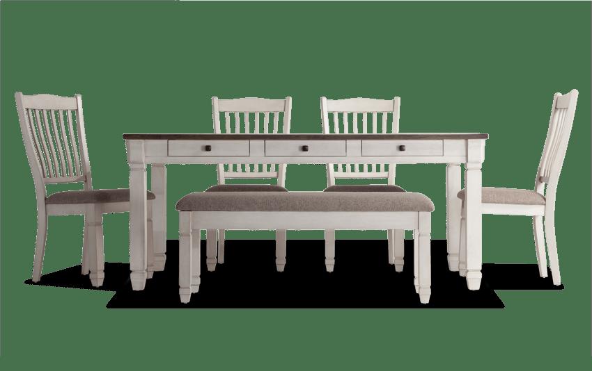 savannah 6 piece dining set with storage bench home decor rh pinterest it