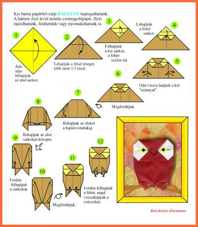 origami owl with instructions origami pinterest