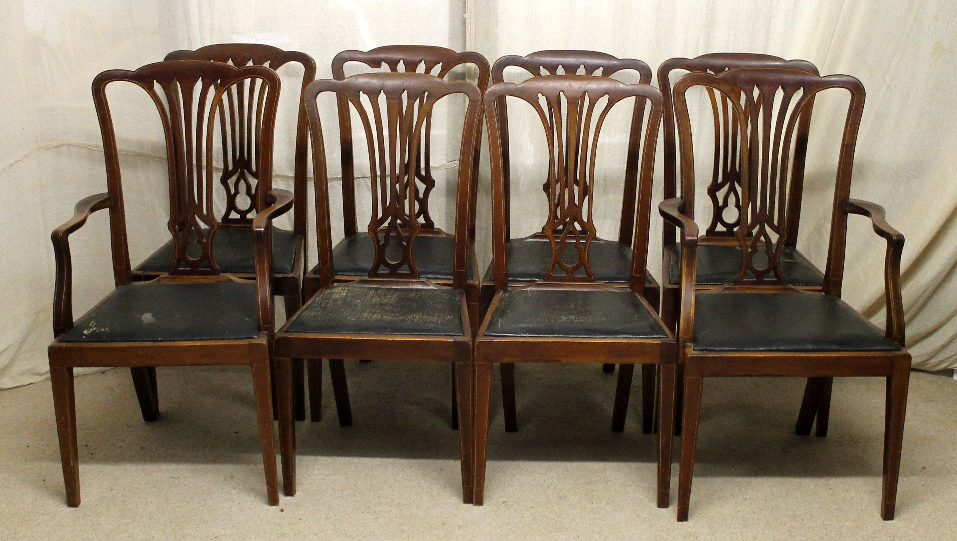Magnificent Dining Chairs Set Of Eight Edwardian Antique Dining Chairs Alphanode Cool Chair Designs And Ideas Alphanodeonline