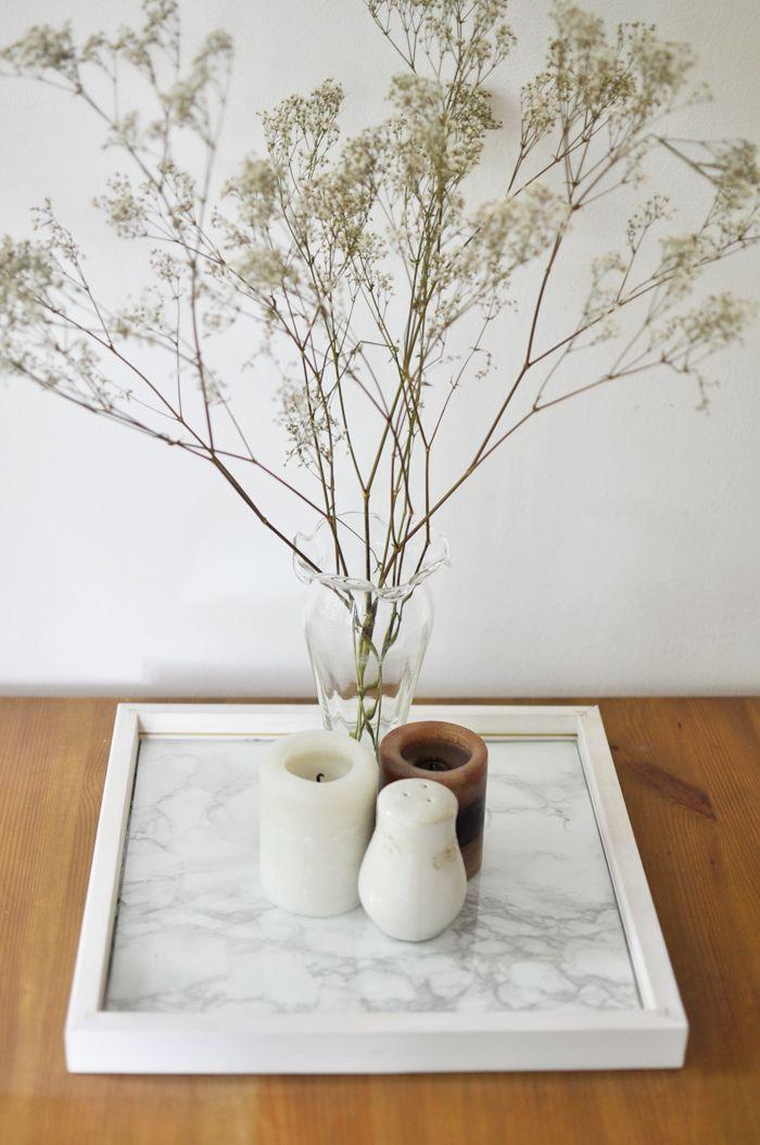 Diy marmor tischtablett deko pinterest for Tischplatte marmoroptik