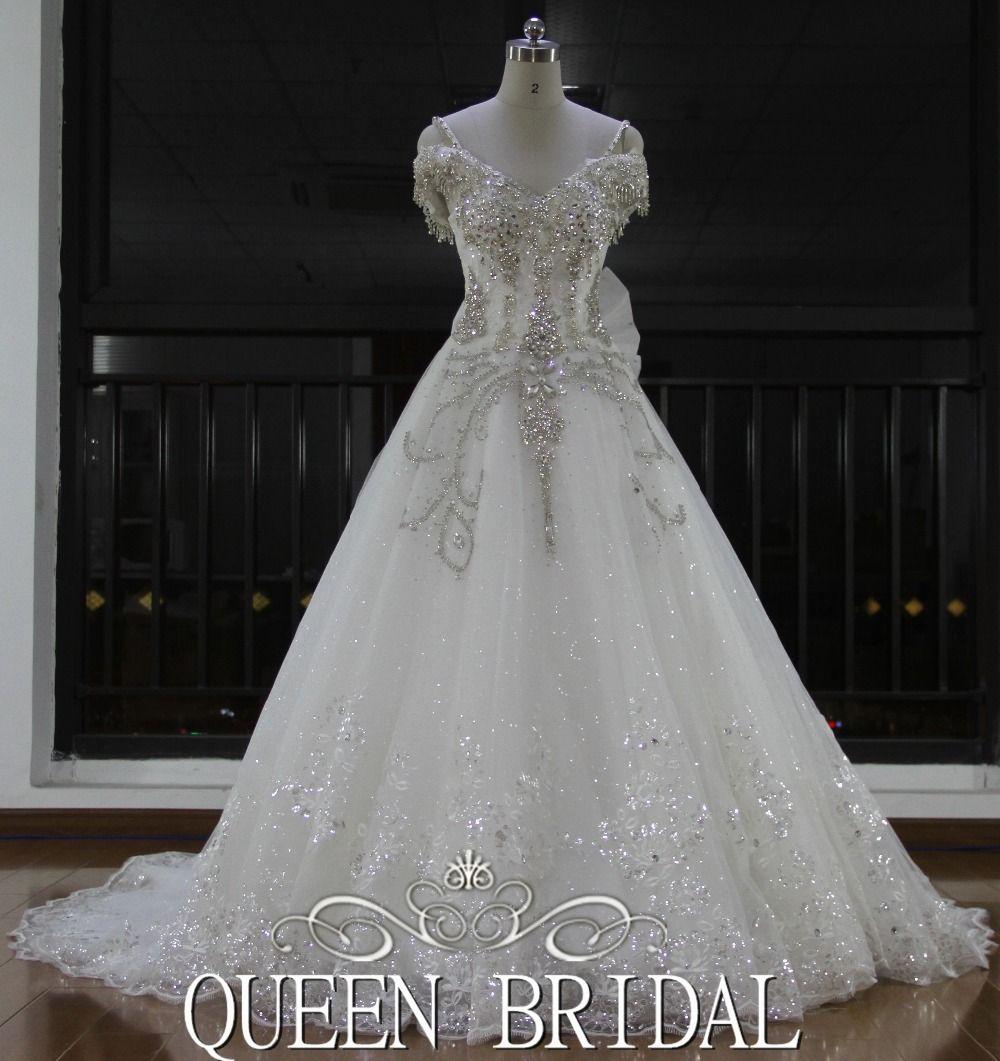 Newest Real Sample Cap Sleeve Turkish Crystal Rhinestone Wedding Dresses  2016, View crystal rhine… | Rhinestone wedding dress, 2016 wedding dresses,  Wedding dresses