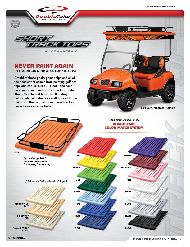 Ezgo Club Car Yamaha Golf Cart Canopy Universal 60 Roof Top 18