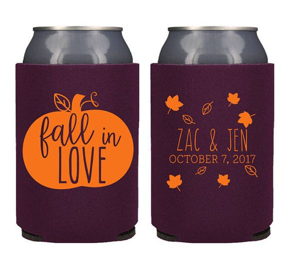 Rustic Fall Wedding Favor Ideas: Rustic Personalized Fall In Love Can