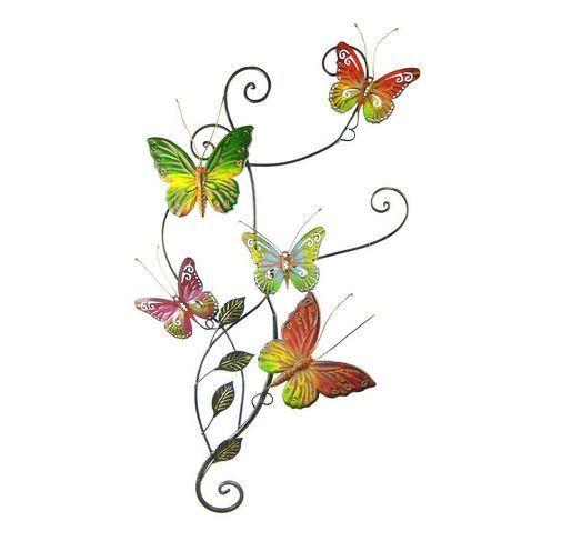 Metal Wall Decor Butterfly Sculpture 29x15 Butterflies Art Indoor ...