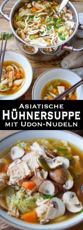 Photo of Asiatische Hühnersuppe mit Udon-Nudeln Rezepte | Elle Republic