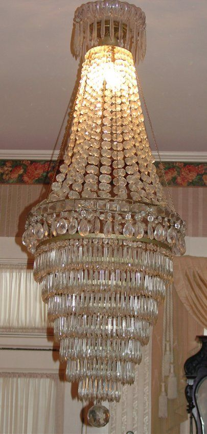 161 victorian crystal chandelier 8 tiers crystal with on 161 victorian crystal chandelier 8 tiers crystal with lot 161 aloadofball Images