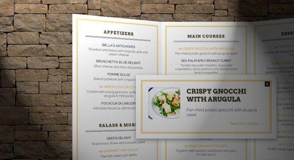 D restaurant menu concept html css code stuff
