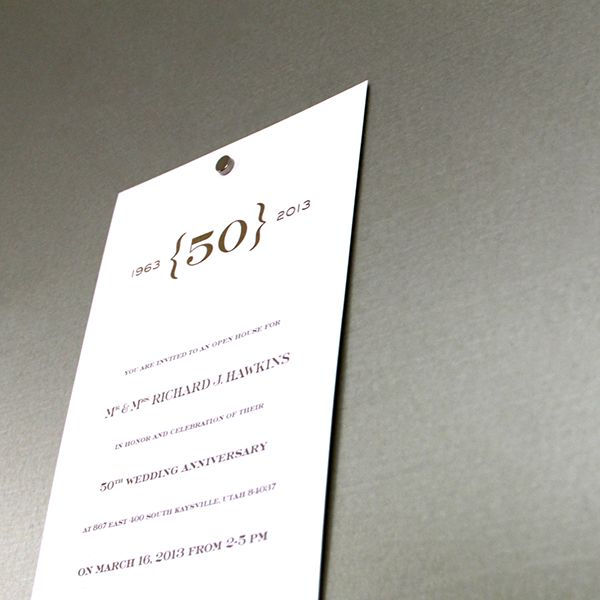 50th Wedding Anniversary Invitation Ideas: 50th Wedding Anniversary Invitation Design.