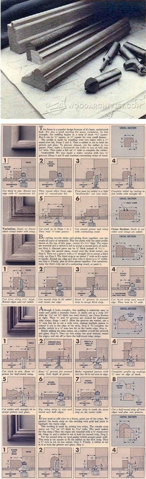 Making Picture Frame Molding Furniture Molding Construction