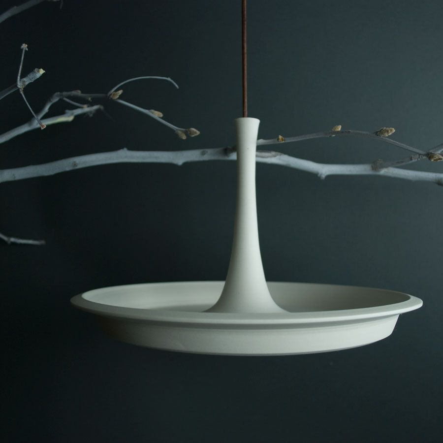 Hanging Bird Bath  Porcelain Bird Feeder